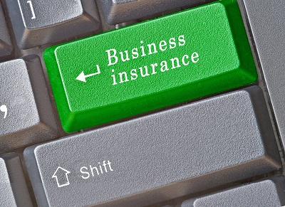 image of computer button that says business insurance