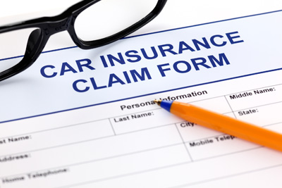 image of car insurance claim form
